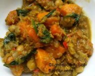 Vegetarian Curry with Chickpeas, Lentils and Sweet Potato
