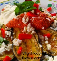 Oven-Roasted Aubergines With A Nut, Pepper And Chilli Dip