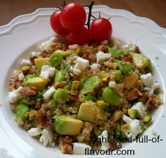 Quinoa, Avocado And Fava (Broad) Bean Salad