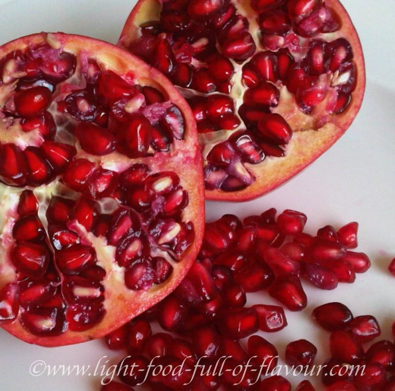 Pomegranates can help to reduce tummy fat.