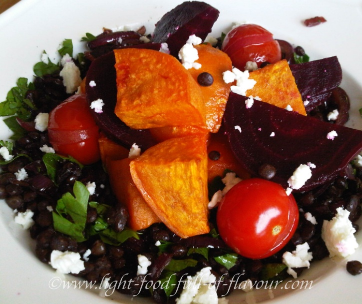 Puy Lentils With Roasted Vegetables