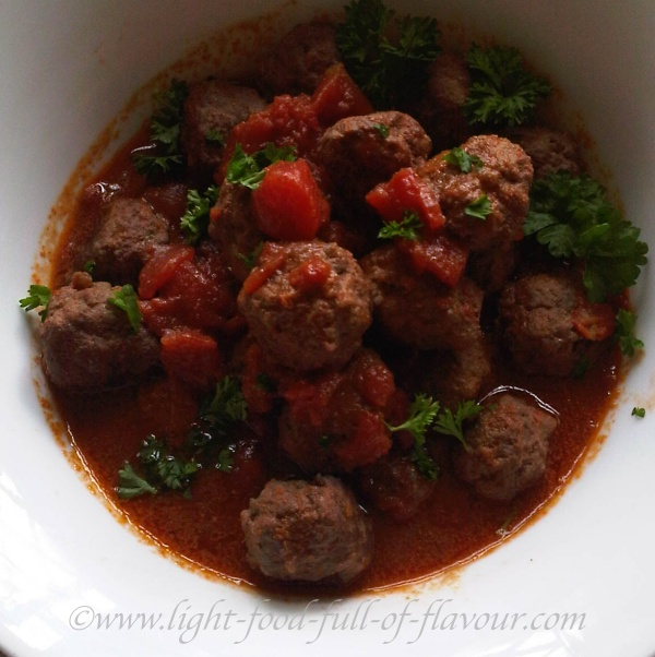 Spanish-Style Meatballs In A Red Wine And Tomato Sauce
