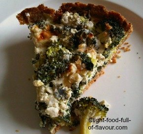 Broccoli And Spinach Quiche