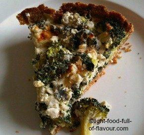 Broccoli And Spinach Quiche