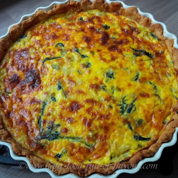 Leek And Courgette Quiche