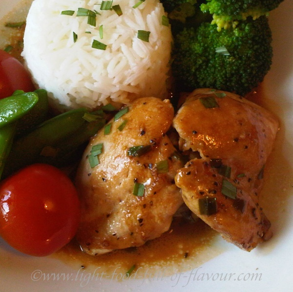 tarragon Chicken With A Vermouth Sauce