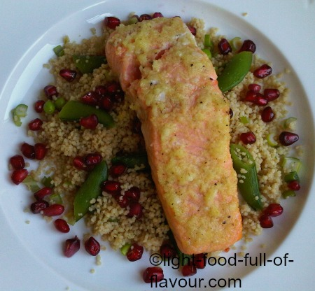 Ginger-Glazed Salmon with Citrus Couscous